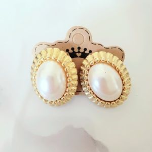 Vintage Faux Pearl Statement Earrings